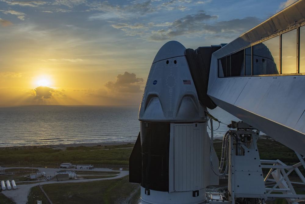 Uruchomienie zegara NASA dla misji SpX-DM2