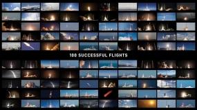 100 startów rakiet SpaceX